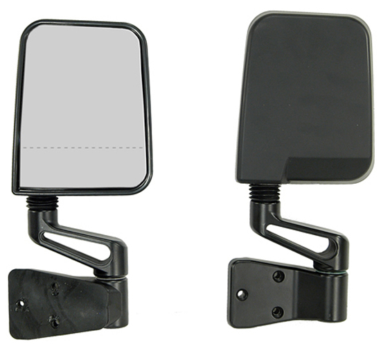 Jeep Wrangler Black Dual Focal Point Mirrors (1987-2002)