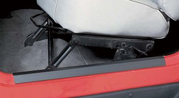 Jeep Wrangler Black Steel Entry Guards-Pair (1997-2006)