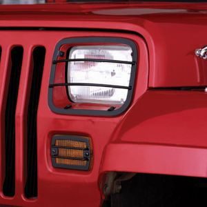 Jeep Wrangler Black Front Headlight and Turn Signal Guards (1987-1995)