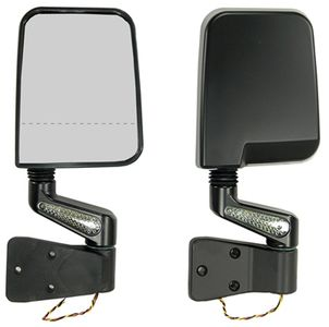 Jeep Wrangler Black LED Dual Focal Point Mirrors (1987-2002)
