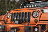 Jeep Wrangler Black Perforated Grille Inserts (2007-2018)