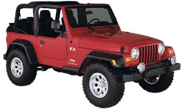 Bushwacker Jeep Wrangler Pocket Style Fender Flares Rear 1987 1995 10058 07