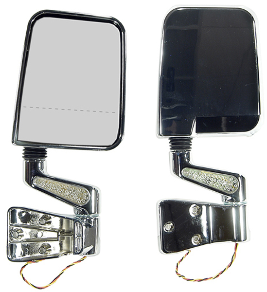 Jeep Wrangler Chrome LED Dual Focal Point Mirrors (1987-2002)
