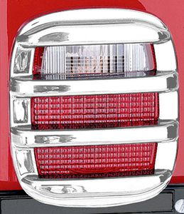 Jeep Wrangler & CJ Chrome Tail Light Guard Set (1976-2006)