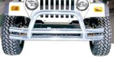Jeep Wrangler, CJ & Unlimited Stainless Steel Front Tube Bumper (1976-2006)