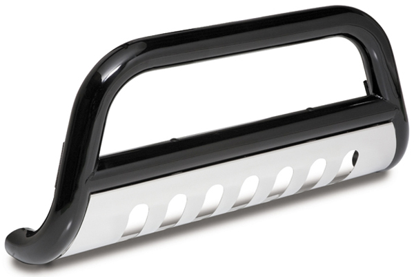 "Image of ""Jeep Wrangler Jk 3"""" Black Powder Coated Bull Bar (2007-2014)"""