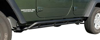 Jeep Wrangler JK 4-Door Textured Black RRC Rocker Slider-Pair (2007-2018)
