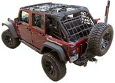 Jeep Wrangler JK Black Cargo Net Kit (2007-2018)