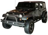 Jeep Wrangler JK Front Textured Black Tube Bumper With Grill Guard (2007-2018)