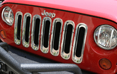 Jeep Wrangler JK Grille Covers & Inserts