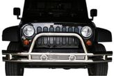 Jeep Wrangler JK Stainless Steel Front Tube Bumper With Grill Guard (2007-2018)