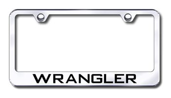 Jeep Wrangler Laser Etched Stainless Steel License Plate Frame