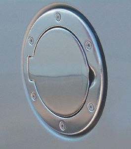 Jeep Wrangler Polished Aluminum Billet Style Gas Cover (1997-2006)
