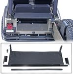 Jeep Wrangler Replacement Tailgate Bar with Black Denim Tonneau (1987-2006)