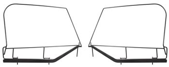 Jeep Wrangler Soft Top Upper Skin Steel Door Frames (1997-2006)