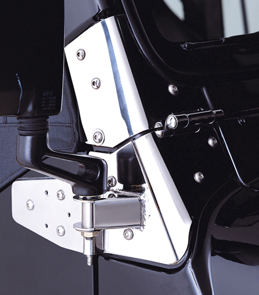 Jeep Wrangler Stainless Steel Mirror Relocation Brackets (1987-2006)