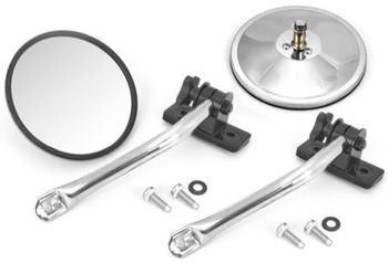 Jeep Wrangler Stainless Steel Quick Release Mirror Relocation Kit-Pair (1997-2018)