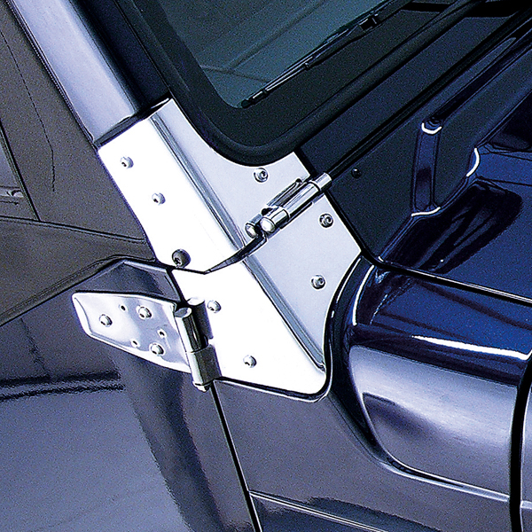 Jeep Wrangler Stainless Steel Windshield Hinge (1997-2006)
