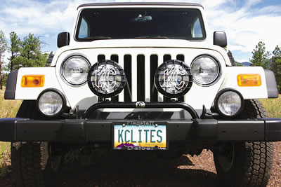Image of Jeep Wrangler TJ 2-tab Black Light Bar (1997-2006)