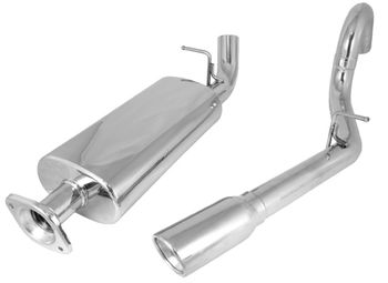 Jeep Wrangler TJ Cat Back Stainless Steel Exhaust Kit-RH Outlet