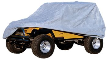 Jeep Wrangler & Unlimited 4 Dr Three Layer Full Car Cover Kit (2003-2018)