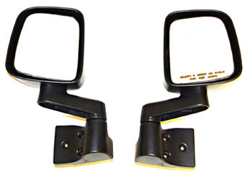 Jeep Wrangler & Unlimited Black Side Mirrors (2003-2006)