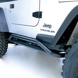 Jeep Wrangler & Unlimited Black Textured RRC Rocker Guards-Pair (1987-2006)