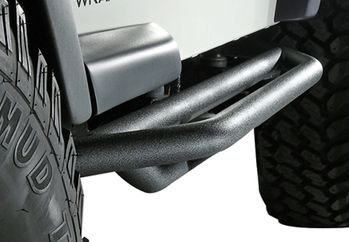 Jeep Wrangler & Unlimited Black Textured Side Armor (1987-2006)