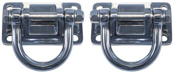 Jeep Wrangler XHD Bumper Stainless Steel D-Rings-Pair (1976-2018)