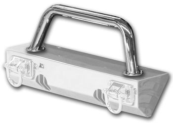 Jeep Wrangler XHD Stainless Steel Front Bumper Tubular Hoop Over Rider (1976-2018)