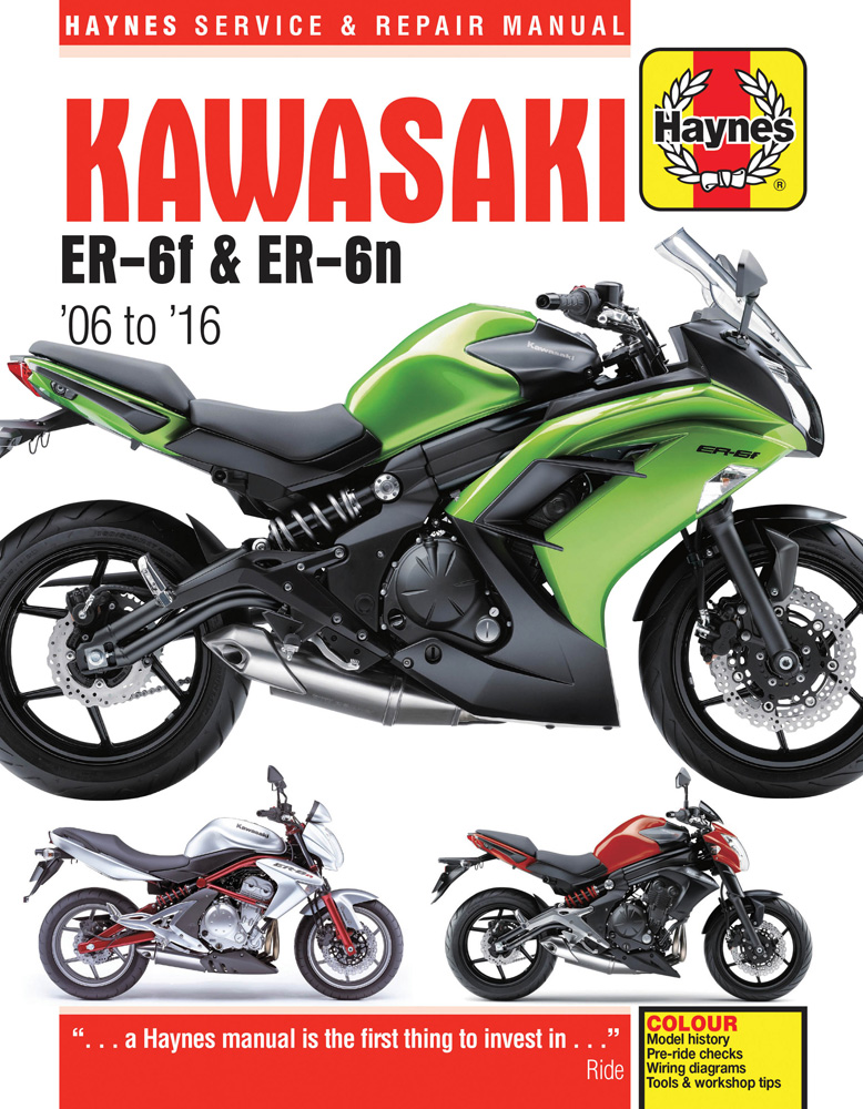 Image of Kawasaki EX650 & ER650 Haynes Repair Manual (2006-2016)