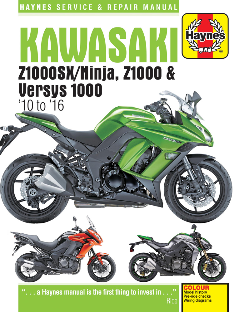 Kawasaki Z1000 Z1000SX & Versys Haynes Repair Manual (2010-2016)
