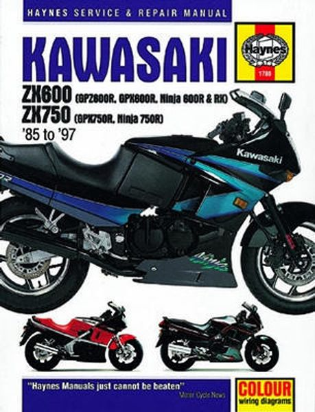 kawasaki zx600 zx 750 haynes repair manual 1985 1997 haym1780 kawasaki zx600 zx 750 haynes repair manual 1985 1997