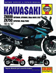 Kawasaki ZX600 ZX 750 Haynes Repair Manual (1985 - 1997)