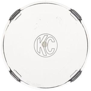 """KC Hilites 6"""" Round Clear Acrylic Light Shields (Pair)"""