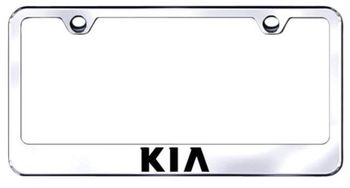 Kia Laser Etched Stainless Steel License Plate Frame
