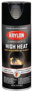 Krylon High Heat Satin Black Spray Paint (12 oz.)