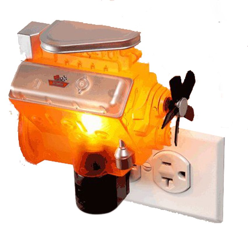 Chevrolet Blown Hot Rod Engine Night Light
