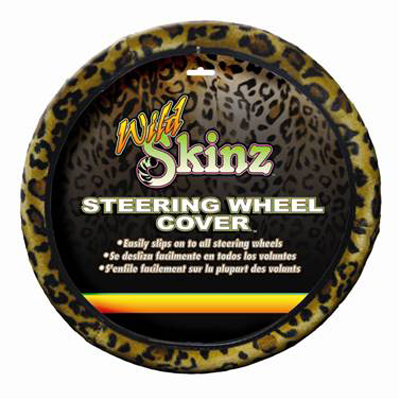 Image of Leopard Print Steering Wheel Cover