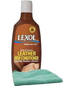 Lexol Leather Deep Conditioner Lotion (8 oz.) & Microfiber Cloth Kit