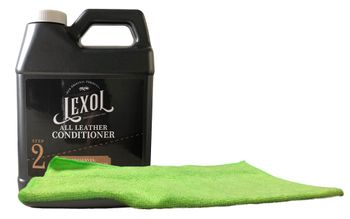 Lexol Leather Deep Conditioner Refill (33.8 oz.) & Microfiber Cloth Kit