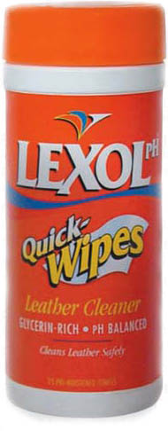 Image of Lexol pH balanced Quick Wipes Leather Cleaner