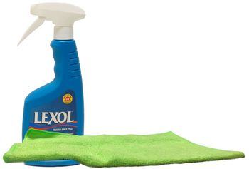 Lexol Vinylex Rubber, Vinyl and Plastic Protectant (16.9 oz) & Microfiber Cloth Kit