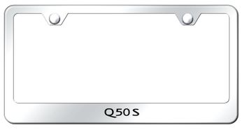 Infiniti Q50S Mirrored Finish Stainless Steel Laser Etched License Frame