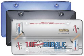 License Plate Tuff Bubble Shields