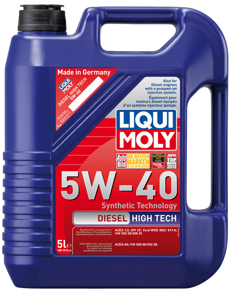 Image of Liqui-Moly Diesel High Tech 5W40 Motor Oil (5 Liter)