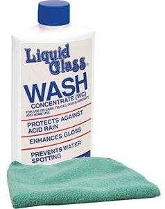 Liquid Glass Wash Concentrate (16 oz.) & Microfiber Cloth Kit