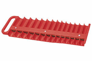 "Lisle 28 Piece Red 3/8"" Magnetic Socket Tray"