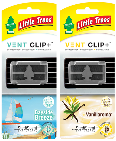 Image of Little Tree Vent Clip Steadi-Scent Air Fresheners - Bayside Breeze