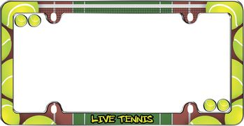 Live Tennis License Plate Frame Kit